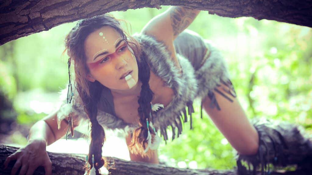 Indianer Fotoshooting Wald